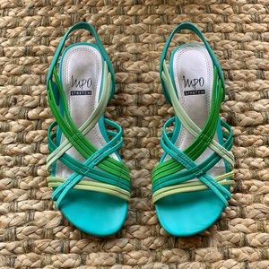Impo Riddle Stretch Wedge Sandal Sz 5.5